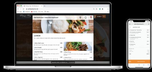 Online Ordering web responsive