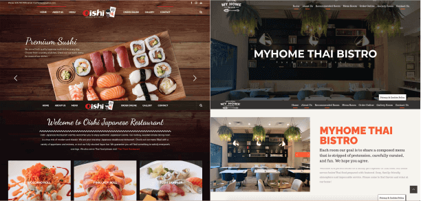 Website for restaurant can be integrated with online ordering system
